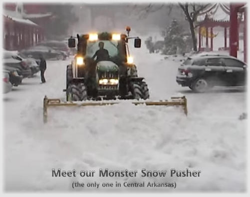 Meet our Monster Snow Pusher (the only one in Central Arkansas)